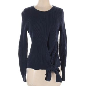 Madewell Navy Blue Side Tie Sweater